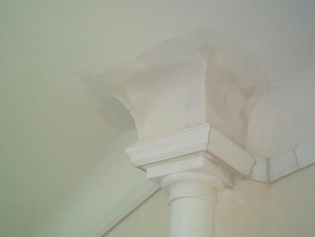 Etape 3 : Pose du chapiteau et raccordement avec le plafond