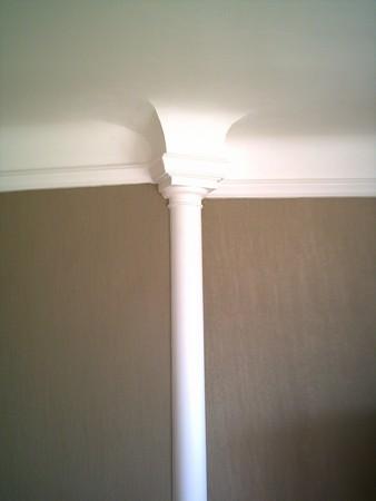 Vue de la partie haute de la colonne terminée.