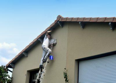 peinture des dessous de toit